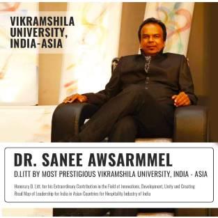 Hon. Shri. Sanee Awsarmmel Bestowed with D Litt of Highest Order & becomes Dr. Sanee Awsarmmel By Vikramshila University – India